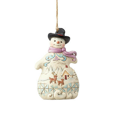 Jim Shore~Snowman With Scene Ornament~Christmas~New 2018~Nib~Winter~6001514