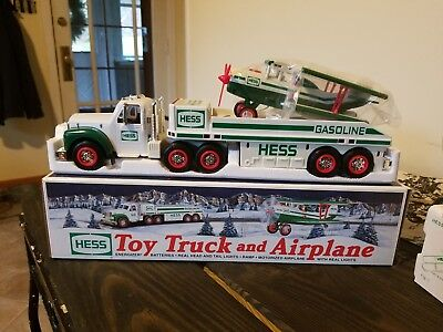2002 Hess Truck - Toy Truck And Airplane  New In Box