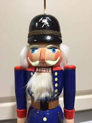 Original Erzgebirge Expertic Christmas Nutcracker Soldier Vintage German Wooden