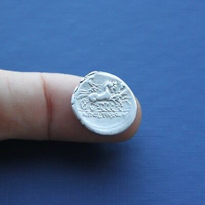Republic Roman Silver Coin Denarius Unresearched C 100 BC