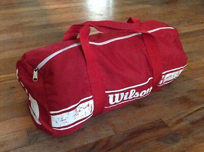 Small VINTAGE Red WILSON Sport Duffle Bag Carry On
