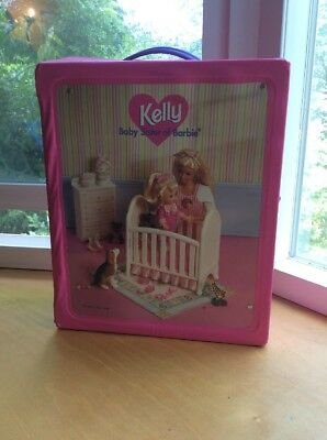 1996 Storage Carry Case - Barbie Baby Sister Kelly - Fold Out Nursery    -10-