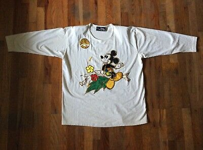 Disney Originals Mid Sleeve Bouse - Mickey Mouse - Christmas In Hawaii