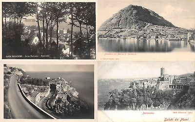 Lot of 14 Early / Vintage Italy Scenic City Views Postcards 7 RPPC's #137234 R