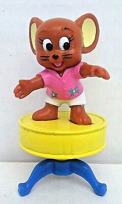 Vintage Turner Entertainment 1989 Tom & Jerry PVC Figure JERRY On Top Of Table
