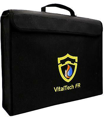 Fireproof Document Bag Safe Water Resistant Fire Security LIPO Battery Bag,...