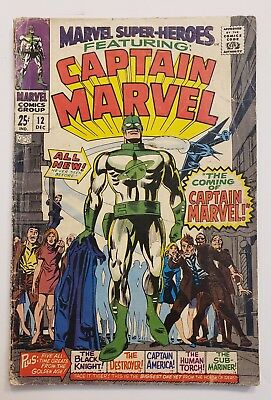 Marvel Super-Heroes #12 Featuring Captain Marvel 1St App Of Captain Marvel