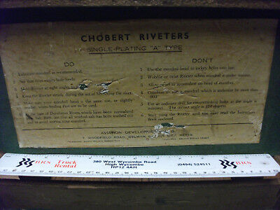 """Vintage BOX ONLY FOR A CHOBERT SINGLE-PLATING """"A"""" TYPE RIVETER"""