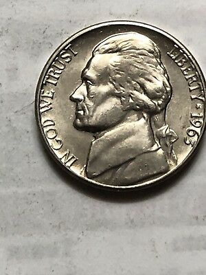 1963D JEFFERSON NICKEL BU High Grade Coin In Excellent Condition Lot P22