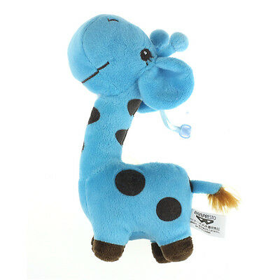Giraffe Dear Soft Plush Toy Animal Dolls Baby Kid Birthday Party Gift Blue