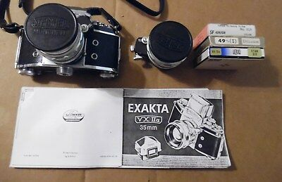 Exakta Varex Iia Ihagee Dresden Body W/ 35 And 55Mm Lenses+Filters+Owners Book