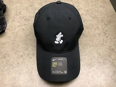 New! Disney Parks Exclusive Mickey Mouse Character Nike Baseball Cap Hat Black