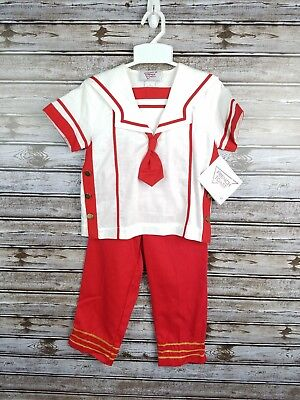NWT vintage French Toast kids sailor outfit costume red white size 4T
