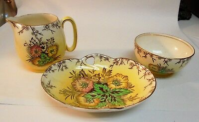 Vintage Royal Winton Grumwade From England yellow green and gold