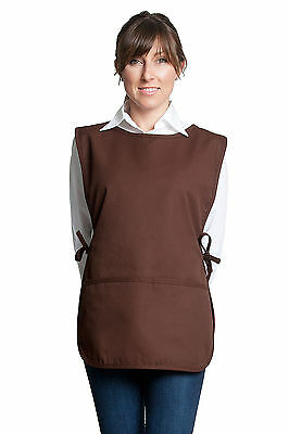 Fiumara Apparel Woman Professional Cobbler Apron with 2 Pockets Brown - Cotton