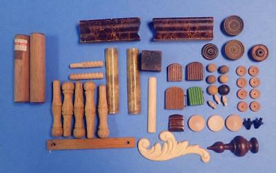 Antique Vintage And Reproduction Clock Trim Pieces Rosettes Columns Finials Etc
