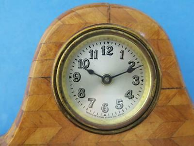 """Vintage American Chime Clock Co. 16.5"""" Wooden Novelty Style Shelf Clock"""