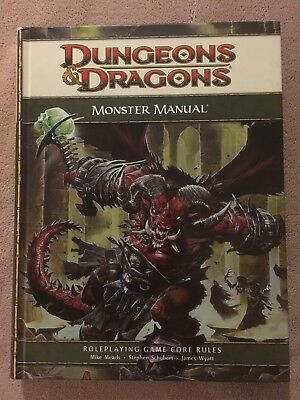 Monster Manual - Dungeons & Dragons 4th Ed. - 1st Print 2008 - Collector Copy