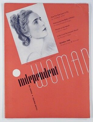 1940 Oct INDEPENDENT WOMAN magazine WW2 flying lessons BUSINESS women's rights