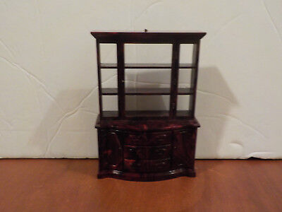 Marx DINING ROOM HUTCH Vintage Tin Dollhouse Furniture Renwal Plastic 1:16