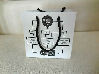 """SAKS 5TH AVE MICRO MINI EMPTY PAPER GIFT BAG Spring Cosmetic Collect 6""""X6"""""""