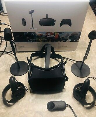 Oculus Rift Virtual Reality Headset and Touch controllers VR Cv1  Two sensors