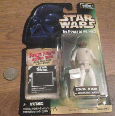 Hasbro Kenner Star Wars Power of the Force FREEZE FRAME ADMIRAL ACKBAR