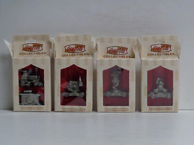 NIB Vintage Coca-Cola 9-piece Pewter Train Set New Old Stock Original Boxes