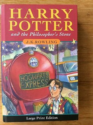 Harry Potter & the Philosopher's Stone by JK Rowling! Large Print H/C Like New!