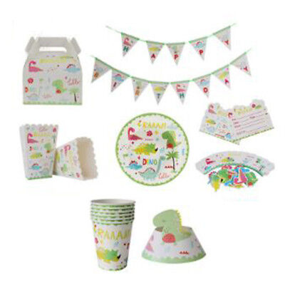 Dinosaur Theme Birthday Party Wedding Festerval Supplies Tableware Set B