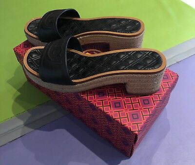 0eb237148 TORY BURCH FLEMING 50MM Slide Espadrille Sandals With Box - Size 7.5 ...