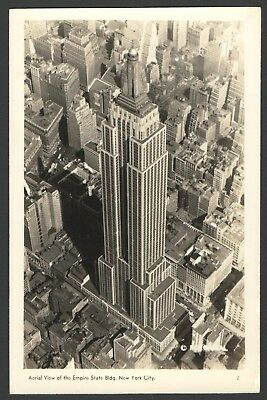 1940's RPPC Postcard Aerial View of EMPIRE STATE BUILDING, New York City NewYork