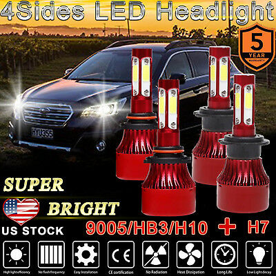 9005+H7 LED Headlight 4Sides 1480W 148000LM High Low Beam For Mazda 3/5/6/ CX-7
