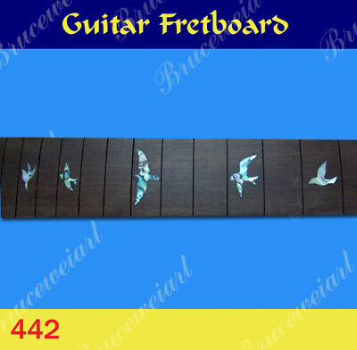 Free Shipping, Guitar Part - Slotted Fretboard w/Abalone Inlay (G-442-1)