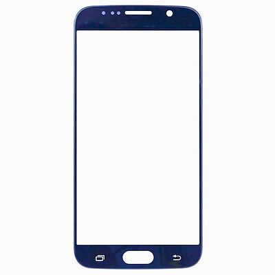 For Samsung Galaxy S6 Digitizer Front Touch Screen Glass Lens G920F Blue