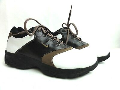 Nike Sport Performance Mens Size 10.5 Casual Golf Shoes Brown Black White 050103