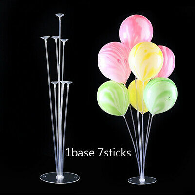 3 Set Clear Balloon Column Base Balloons Stand Wedding Birthday Decor 70cm