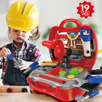 Tools Box Work Role Play With Scroll Saw Drill Hammer Set Kids Pretend Play Toy