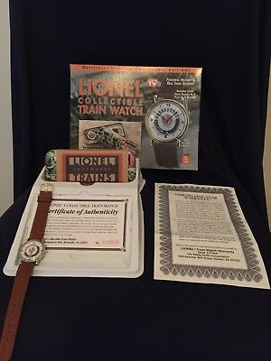 Lionel Legendary Trains Collectible Watch With Moving Train In Tin Certificate