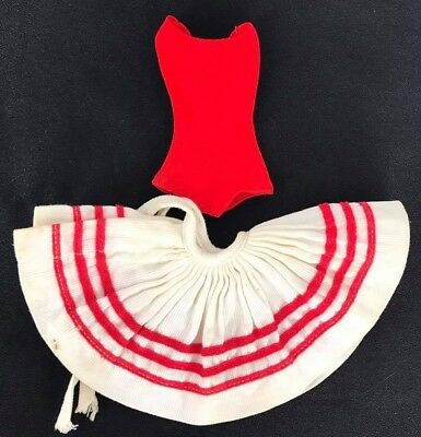 Vintage Barbie Clothing dancing red skirt and body shirt