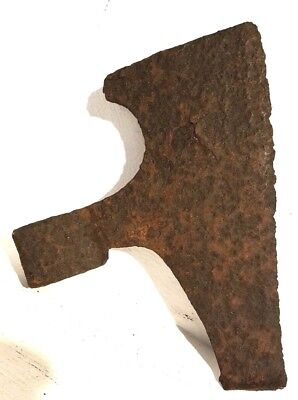"ANCIENT MEDIEVAL ROMAN ARTIFACT IRON AXE HEAD - Battle Axe - 1.7 lbs, 9"" blade"