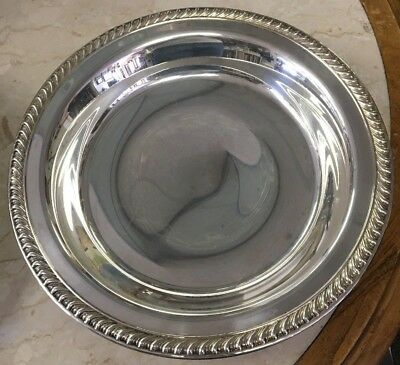 WM Rogers Silverplate Footed Bowl/Serving Dish 860
