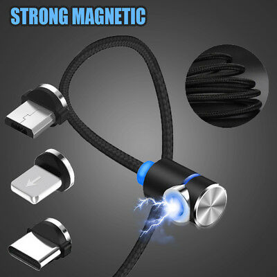 TOPK 1M 2M Magnetic Plug Micro USB/Type-C/IOS Round Fast Charging Charger Cable
