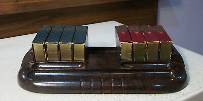 "Bakelite Desk Set w 8 ""books"" Holding Accessories Art Deco 1930s Demisson"