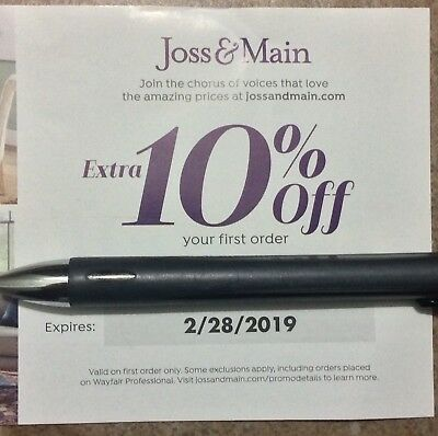 10% Off Joss & Main Coupon !!  First Time User Offer Expires 02/28/2019