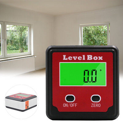 Gauge UK Level Protractor Angle Base Digital 360° Box - Inclinometer Magnetic 0