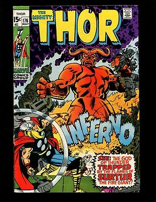 Thor #176 VGFN Kirby Colletta Surtur Loki Sif Balder Warriors Three
