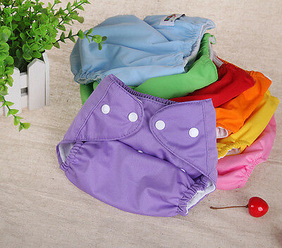 Washable Adjustable Soft Reusable Baby Infant Nappy Cloth Diaper +1Insert Gift