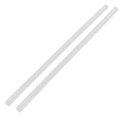 """T2A5 2Pcs 10mm Clear Round Perspex Acrylic Bar PMMA Extruded Rod 12"""" Length Q8J9"""