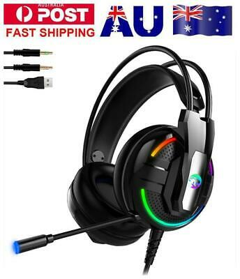 3.5mm Gaming Headset Headphones with Mic for PC Mac Laptop PS4 Xbox One Slim A18